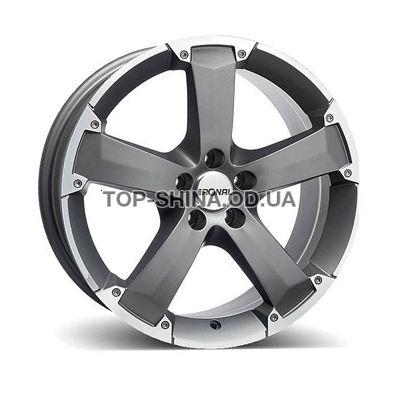 Диски Ronal R47 8x17 5x118 ET45 DIA71 (titanium rim lip diamond cut)