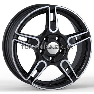 Диски Ronal R52 Trend 5,5x15 5x114,3 ET45 DIA76 (black front diamond cut)