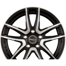 ProLine Wheels PXV Black Polished R14 W5.5 PCD4x108 ET24 DIA65.1
