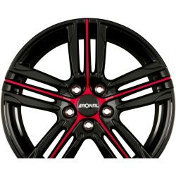 R57 MCR Jetblack-Red Spoke