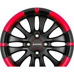 R59 Jetblack-Matt-Red Rim