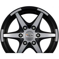 AVUS Racing GRIZZLY Matt Black Polished R17 W7 PCD5x130 ET50 DIA89.1