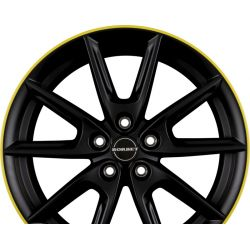 LX18 Black Matt Rim Yellow