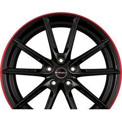 LX Black Glossy Rim Red