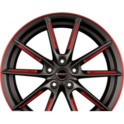LX Graphite Spoke Rim Red Polished