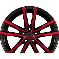 MILANO 5 Black - Red