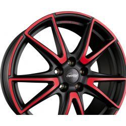 SL6 VETTORE MCR - Jetblack-Matt-Red Spoke