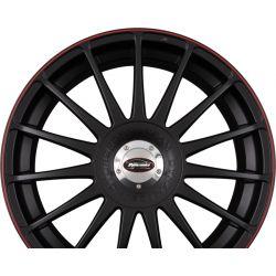 MONZA RS Racing-Black + Felgenhorn in Rot