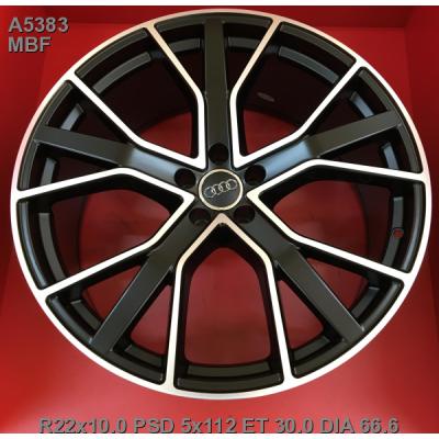 Диски Replica Audi (A5383) 10x22 5x112 ET21 DIA66,6 (MBF)