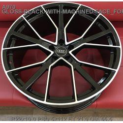 Audi (A970) gloss black machined face