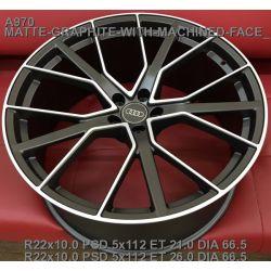 Audi (A970) matt graphite machined face