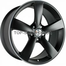 Avus AF10 9x20 5x112 ET45 DIA66,6 (matt black polished)