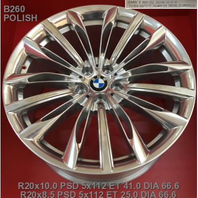 Диски Replica BMW (B260) 10x20 5x112 ET41 DIA66,6 (polished)