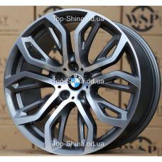 WSP Italy BMW W676 EVEREST ANTHRACITE POLISHED R20 W11 PCD5x120 ET35 DIA74,1