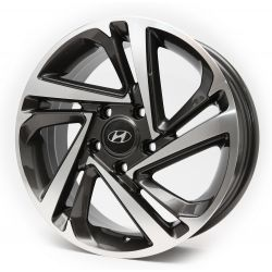 Hyundai (RB49) dark gun metal machined face