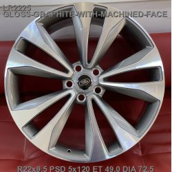Land Rover (LR2225) gloss graphite machined face