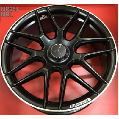 Диски Replica Mercedes (MR251) 10x22 5x112 ET55 DIA66,6 (MBL)