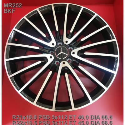 Диски Replica Mercedes (MR252) 10x21 5x112 ET46 DIA66,6 (BKF)