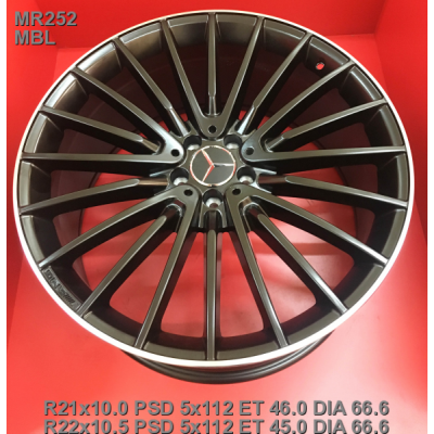 Диски Replica Mercedes (MR252) 10,5x22 5x112 ET45 DIA66,6 (MBL)