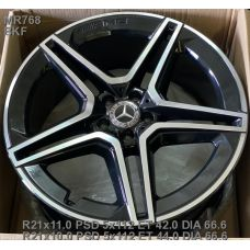 Replica Mercedes (MR768) 11x21 5x112 ET42 DIA66,6 (BKF)