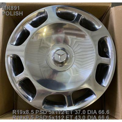 Диски Replica Mercedes (MR891) 9,5x19 5x112 ET43 DIA66,6 (polished)