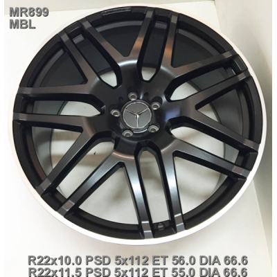 Диски Replica Mercedes (MR899) 10x22 5x112 ET56 DIA66,6 (MBL)