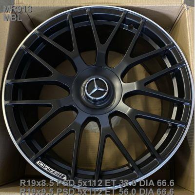 Диски Replica Mercedes (MR913) 9,5x19 5x112 ET56 DIA66,6 (MBL)