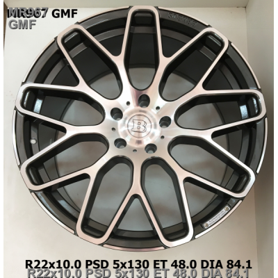 Диски Replica Mercedes (MR967) 10x22 5x130 ET48 DIA84,1 (GMF)