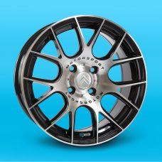 Replica Peugeot (JT1320) 7x16 4x108 ET20 DIA65,1 (BM)
