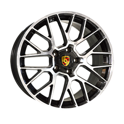 Диски Replica Porsche (PR777) 10x20 5x130 ET45 DIA71,6 (BKF)