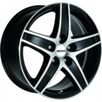 Диски Ronal R48 7,5x16 5x114,3 ET40 DIA82,1 (jet black front diamond cut)