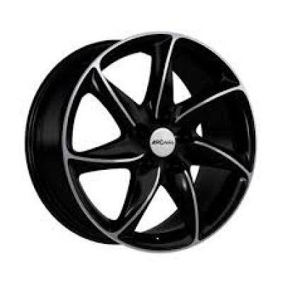 Диски Ronal R51 Trend 6,5x15 5x108 ET42 DIA76 (jet black front diamond cut)