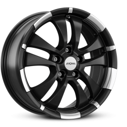 R59 jet black matt rim lip diamond