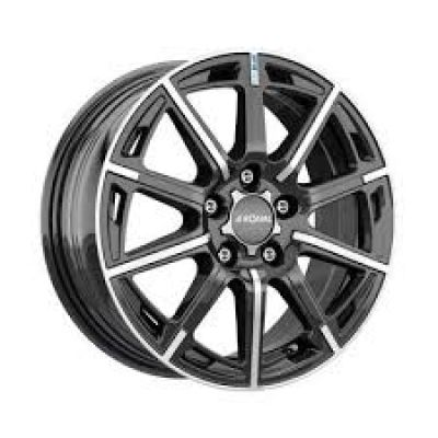 Диски Ronal R60 Blue 6,5x16 5x100 ET40 DIA68 (jet black front diamond cut)