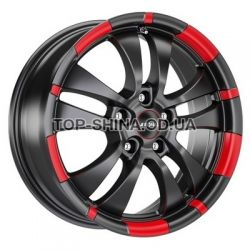 R59 jet black matt red rim