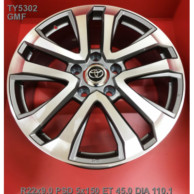 Диски Replica Toyota (TY5302) 9x22 5x150 ET45 DIA110,1 (GMF)