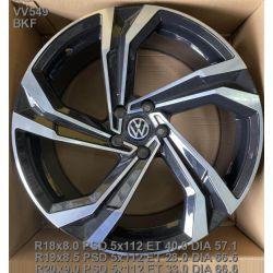Replica Volkswagen (VV549) 8,5x19 5x112 ET28 DIA66,6 (BKF)