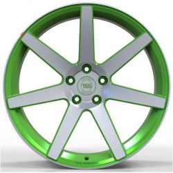 WS1245 matt green machined face