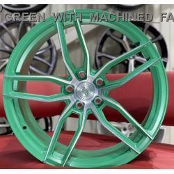WS1250 MATTE_GREEN_WITH_MACHINED_FACE_FORGED