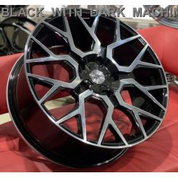WS2165 GLOSS_BLACK_WITH_DARK_MACHINED_FACE_FORGED