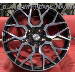 WS2165 gloss black dark machined face