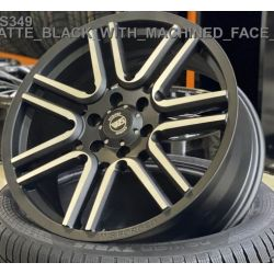 WS349 matt black machined face