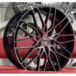 WS594C gloss black machined face