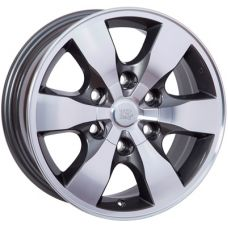 WSP Italy TOYOTA W1760 SAPPORO - Fortuner ANTHRACITE POLISHED R16 W7 PCD6x139,7 ET30 DIA106,1