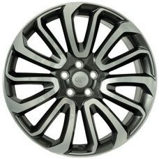 WSP Italy LAND ROVER W2359 IKEBANA ANTHRACITE POLISHED R22 W9,5 PCD5x120 ET49 DIA72,6
