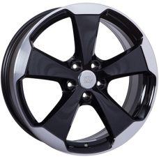 WSP Italy VOLKSWAGEN W465 Laceno GLOSSY BLACK POLISHED R19 W7,5 PCD5x112 ET51 DIA57,1